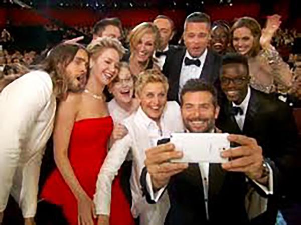 oscar night selfie