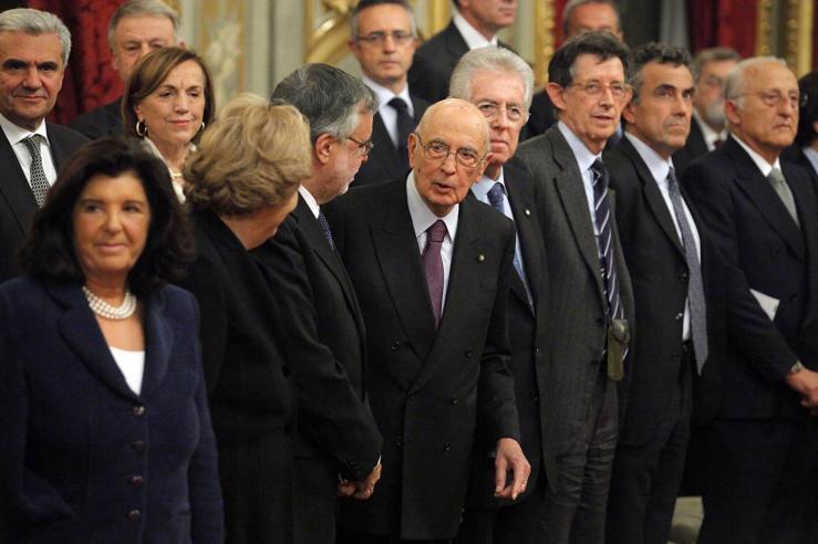 Monti Napolitano Fornelo Cancellieri Severino